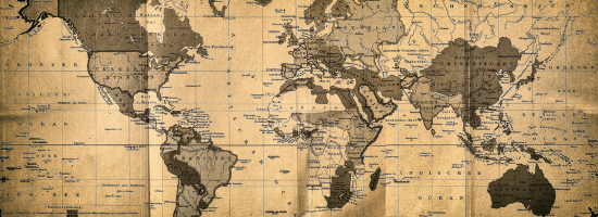 An old-fashioned map of the world
