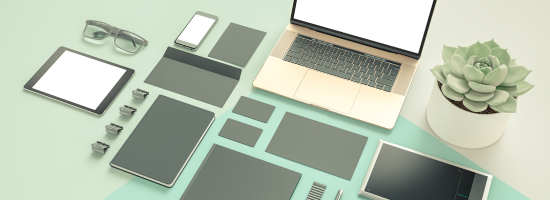 A neatly organised desk