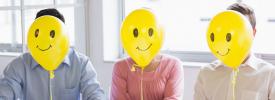 Happy face balloons